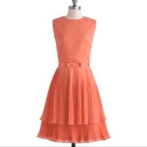 ModCloth Louche Pleated Belt Dress